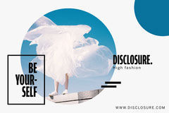 White and Blue Circle Be Yourself Postcard Fashion