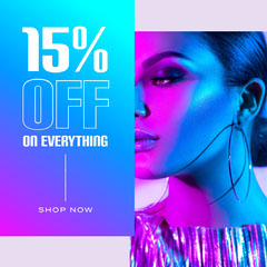 Blue and Purple Gradient Sale Instagram Square Clothing