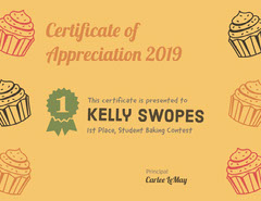 Orange and Black Award Certificate Contest
