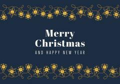 lights merry Christmas card Winter