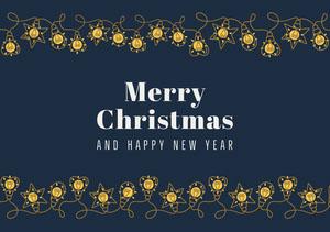 lights merry Christmas card Weihnachtskarte