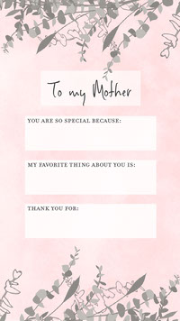Pink and White To My Mother Instagram Post Personal Branding