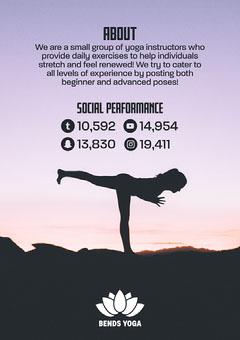 Purple Sky And Black Shadows Bends Yoga Media Kit Career Poster