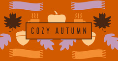 Orange and Violet Cozy Autumn Social Post Fall