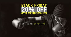 Black and White Black Friday Advertisement Gym