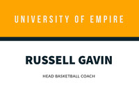Orange University Basketball Coach ID Card Basketball