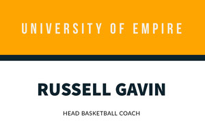 Orange University Basketball Coach ID Card Tarjeta de identificación