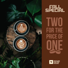Brown Green Coffee Fall Special Instagram Square  Fall