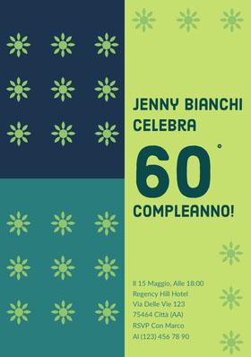 60 Invito al compleanno