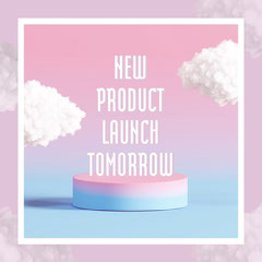 Pink & Blue Gradient Clouds New Product Instagram Square Launch