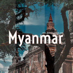 Myanmar Travel Instagram Post with Ancient Temple Travel Agency