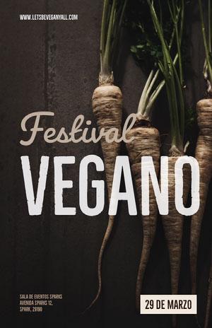 Vegano Cartel de evento