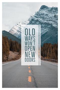 Old ways won't open new doors Pinterest