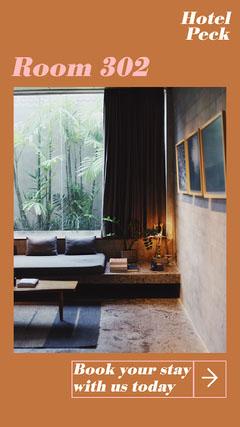Orange & Pink Hotel Instagram Story Hotels