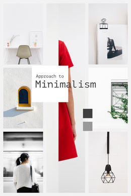 Grey and White Minimalism Collage Montage photo