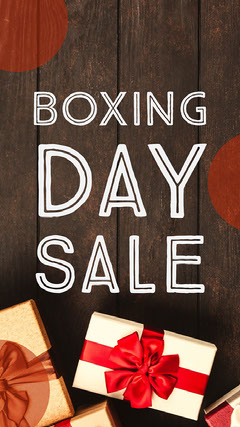 Red & White Boxing Day Sale Instagram Story Holiday Sale