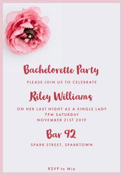 bachelorettepartyinvitation Grey