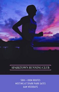 Sparktown Running Club Meeting Flyer