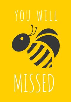 Black and Yellow Farewell Card Farewell