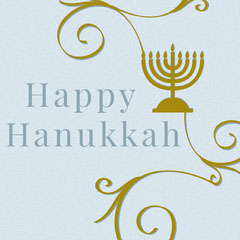 Light Blue and Gold Happy Hanukkah Instagram Post Hannukkah
