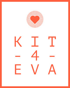 Orange and White KIT Forever Instagram Graphic with Heart Heart