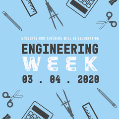 Blue and Black Engineering Week Instagram Graphic Construction