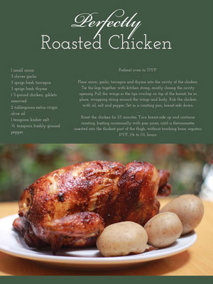Green Roasted Chicken Recipe Card 조리법 카드