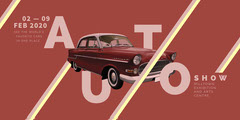 Red Car Auto Show Event Eventbrite Banner Car