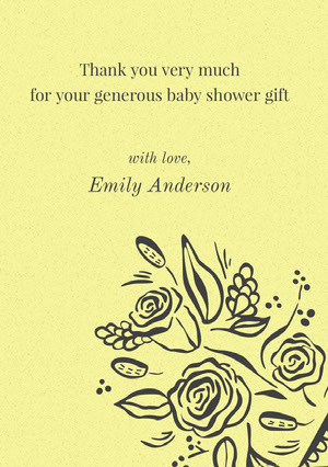Emily Anderson  Baby Shower Thank You Card
