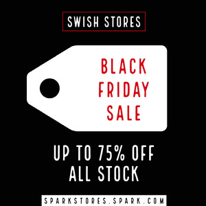White Black and Red Black Friday Sale Instagram Graphic Black Friday