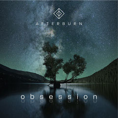 Night Sky with Tree and Lake Afterburn Obsession - Album Art Stars