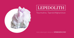 Pink Lepidolite Gemstone Facebook Post Graphic Nature