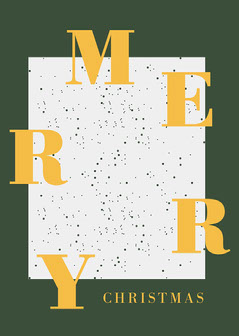 white green gold merry Christmas typographic card  Christmas