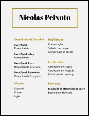 Nicolas Peixoto  Currículo