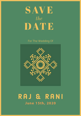 SAVE<BR> DATE Save the date-kort