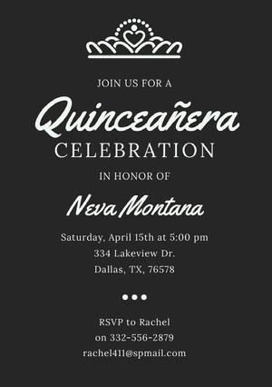 quinceanerainvitations