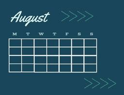 Blue and Navy Blue Calendar Card jeff-test-5