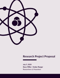 Pink Research Project Business Proposal with Atom Science