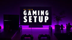 2020 Gaming setup youtube thumbnail Neon