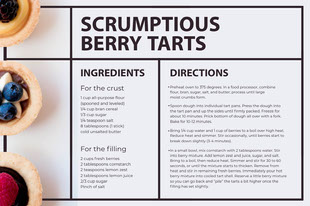 berry tart recipe card Recipes