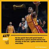 Yellow Framed Sport Quote Instagram Post Basketball