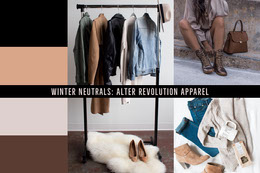 Winter Fashion Mood Board with Collage Montage photo