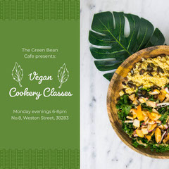 Vegan Cookery Classes Instagram Square  Education