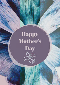 Blue and Violet Happy Mother's Day Card Cartão de Dia das Mães