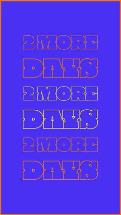 Blue Typographic Countdown Instagram Story Countdown