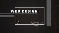 Black with Texture & Lines Portfolio Cover Designer