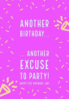 birthday card for woman Confetti