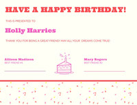 HAVE A HAPPY BIRTHDAY!  Birthday