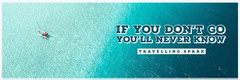Blue Boat in Sea Travel and Tourism Horizontal Ad Banner Travel