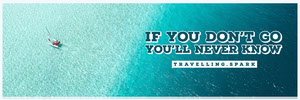 Blue Boat in Sea Travel and Tourism Horizontal Ad Banner Ads Banner